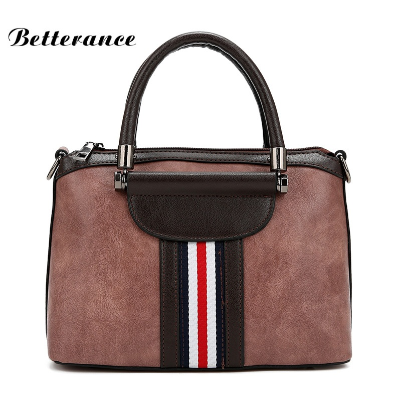 Betterance Patchwork Shoulder Bags famosas marcas Casual Tote Bags women formal handbag bolso bandolera mujer lady briefcase women canvas stripe tote bags casual shopping bags simple shoulder bags lady handtassen sac bandouliere bolso mujer clutch