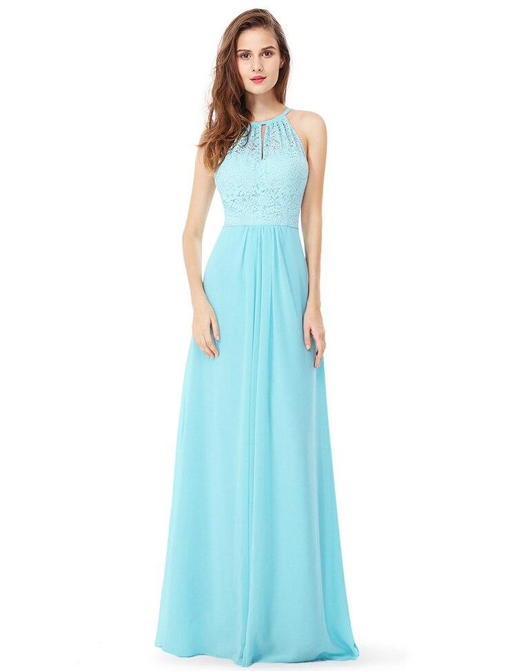 65ea563e238 Ever Pretty 2018 New Fashion Women Evening Dresses A-Line Backless Halter  Sleeveless Long Formal Party Evening Dress XX28980PEA