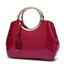 Patent Leather Ladies Hand Bags Women Purse Shoulder Handbag Top Handle Luxury Bag