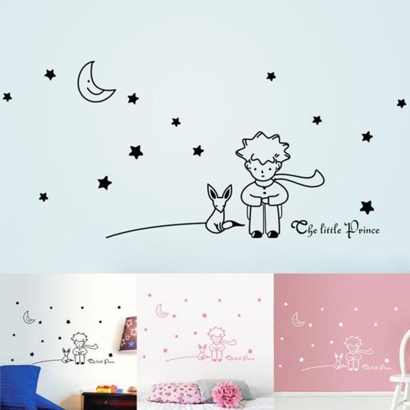 Stars Moon The Little Prince Boy Wall Sticker Home Decor Wall Decals Nursery