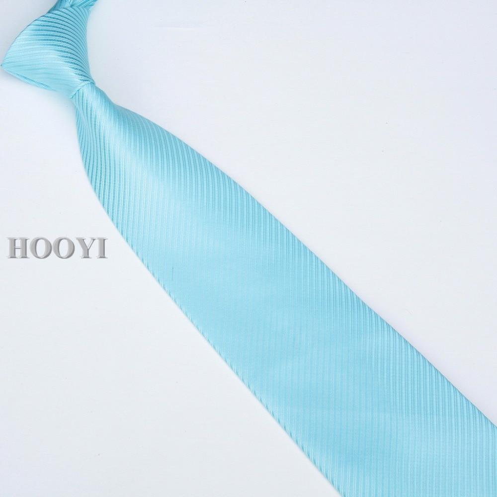 HOOYI 2019 férfi nyakkendő nyakkendő nyakkendő egyszínű üzleti - Ruházati kiegészítők - Fénykép 2