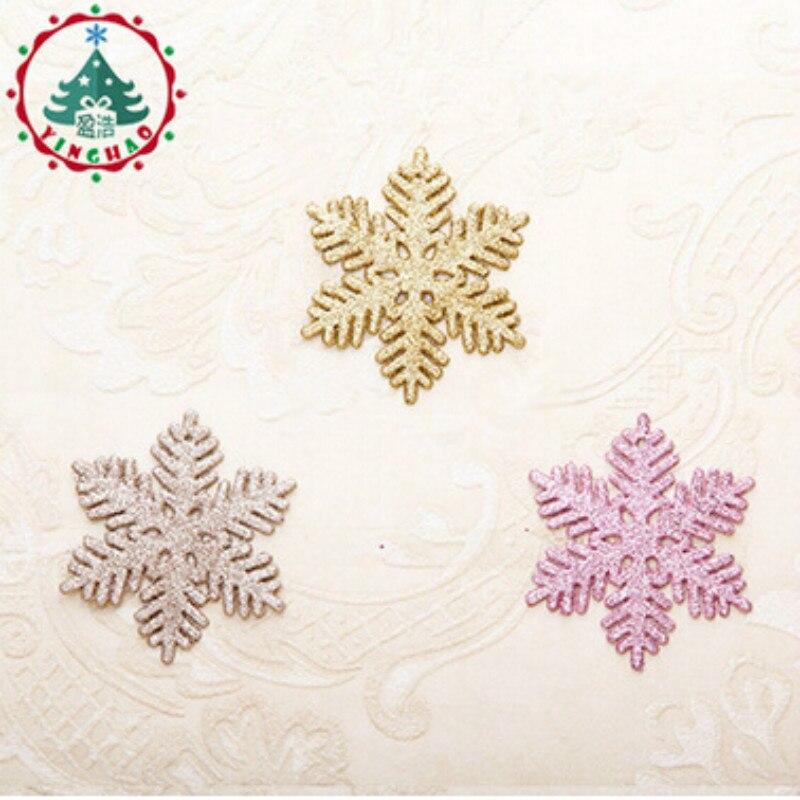 Adornos navidad 2018 Navidad 8.5X10cm Artificial Snow &Snowflakes Christams Decations For Home Christmas Tree Ornaments