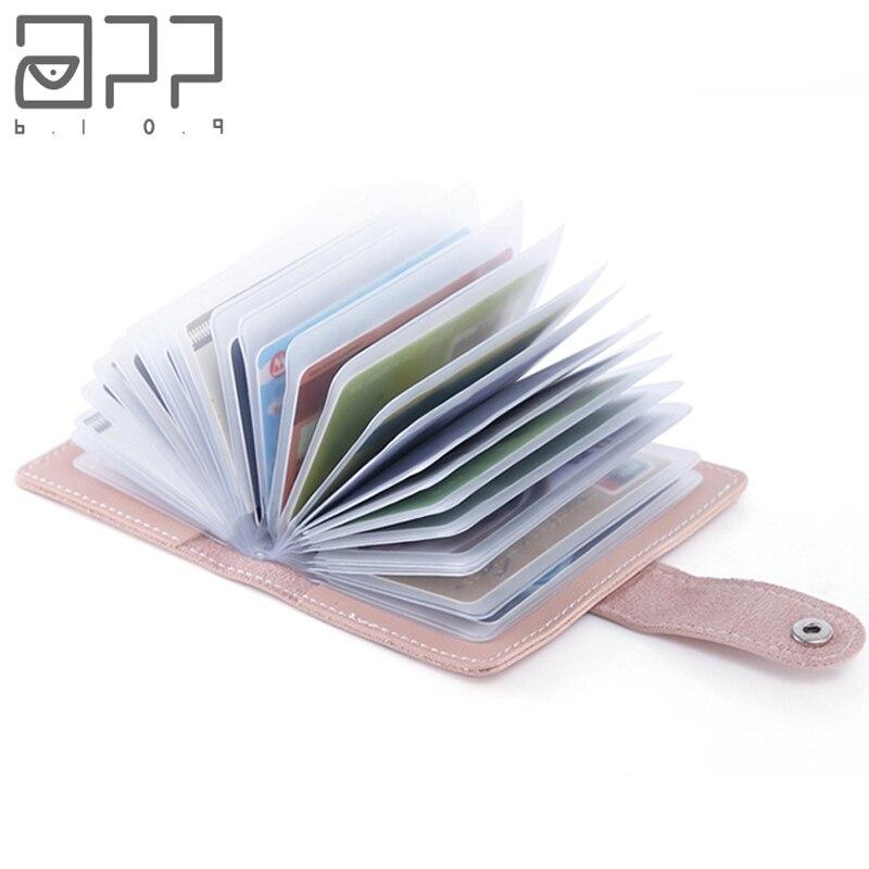 APP BLOG Women Men ID Credit Business Cards Holder Wallet Passport Cover Card Bag Case Femme Female Male Carteira Mujer Purse
