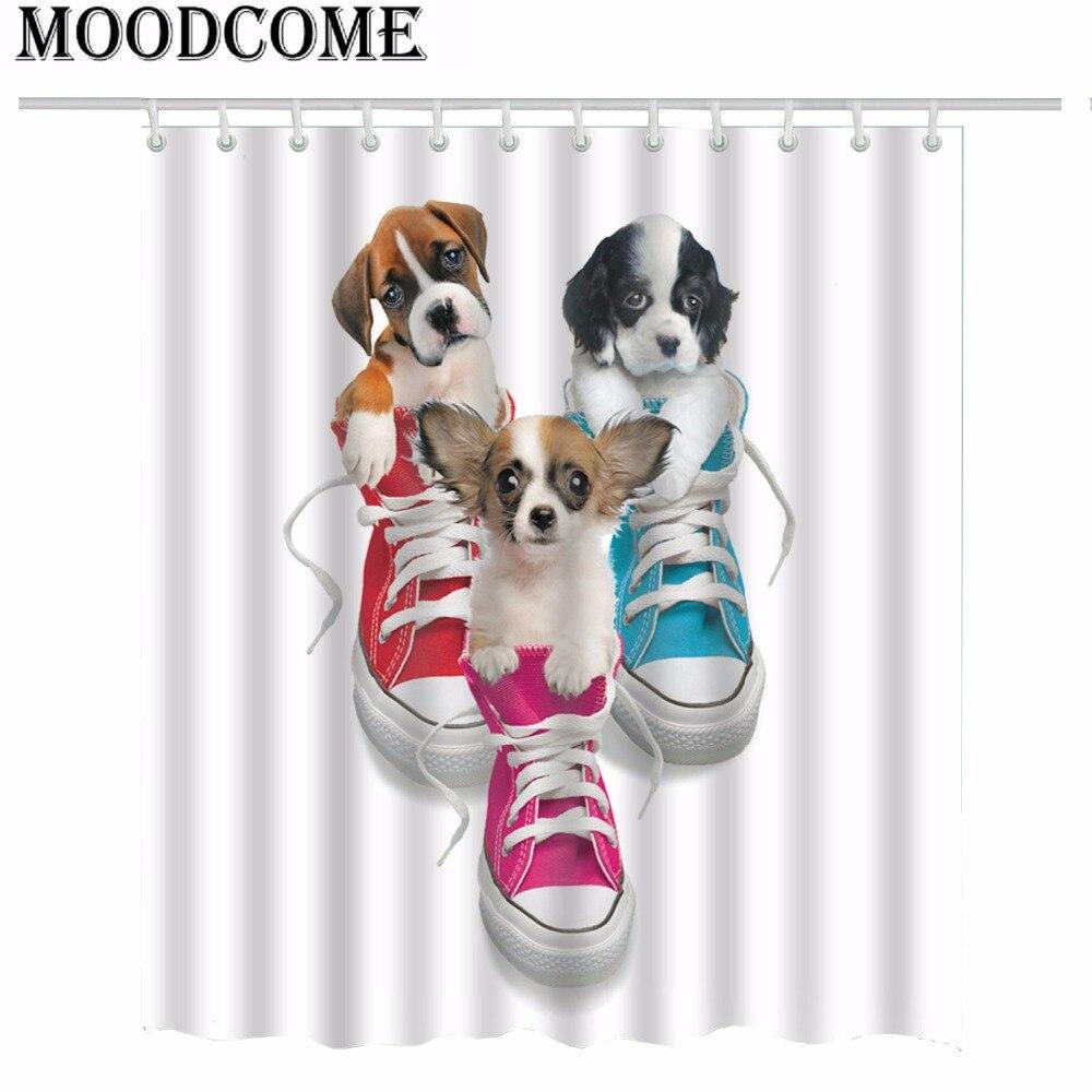 Chihuahua Shower Curtain Bathroom Set Animal Dog Bath Rideau Douche Tissus Duschvorhang