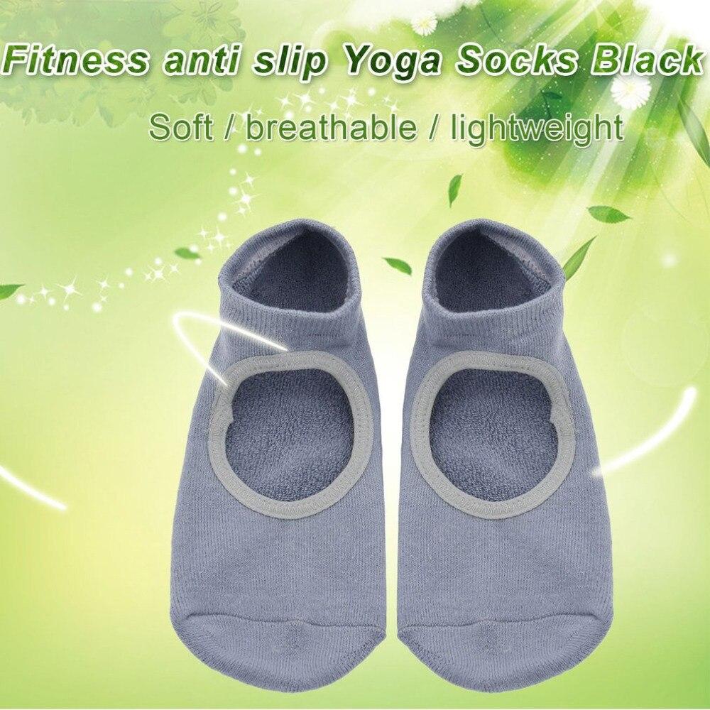 1 Pair Of Men Women Yoga Socks Anti-skid Breathable Fitness Pilates Socks Dancing Gym Non Slip Cotton Socks With Socks Heel New