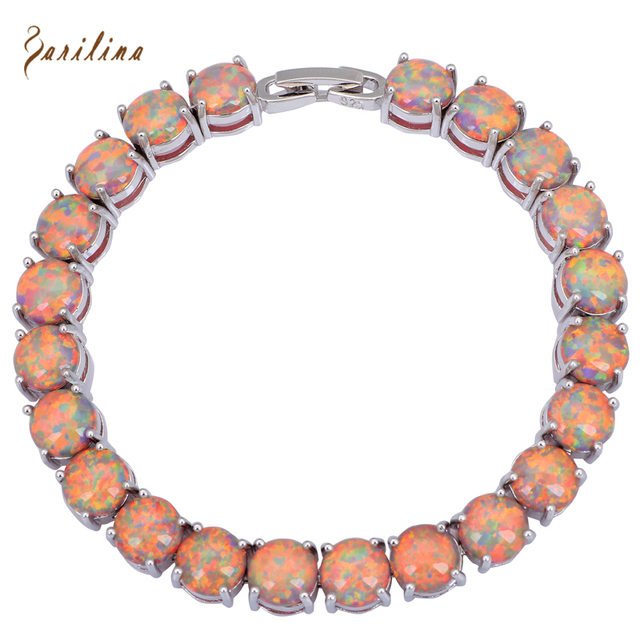 Glam Luxe Mysterious Prata Brown Black Opal Pulseiras & bangles para meninas adolescentes pulseiras femininas 19.5 cm 7.67 polegada B431
