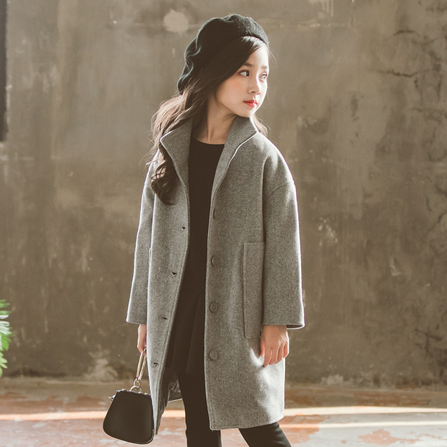 6264436d0 Figwit invierno primavera chaquetas abrigo para niñas adolescentes abrigo cálido  lana gabardina niños ropa niña edad
