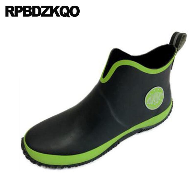 Slip On Pvc Short Plus Size 2018 Trainer Ankle Waterproof Fall Mens Rubber Rain Boots Cheap Sneakers Booties Rainboots Shoes