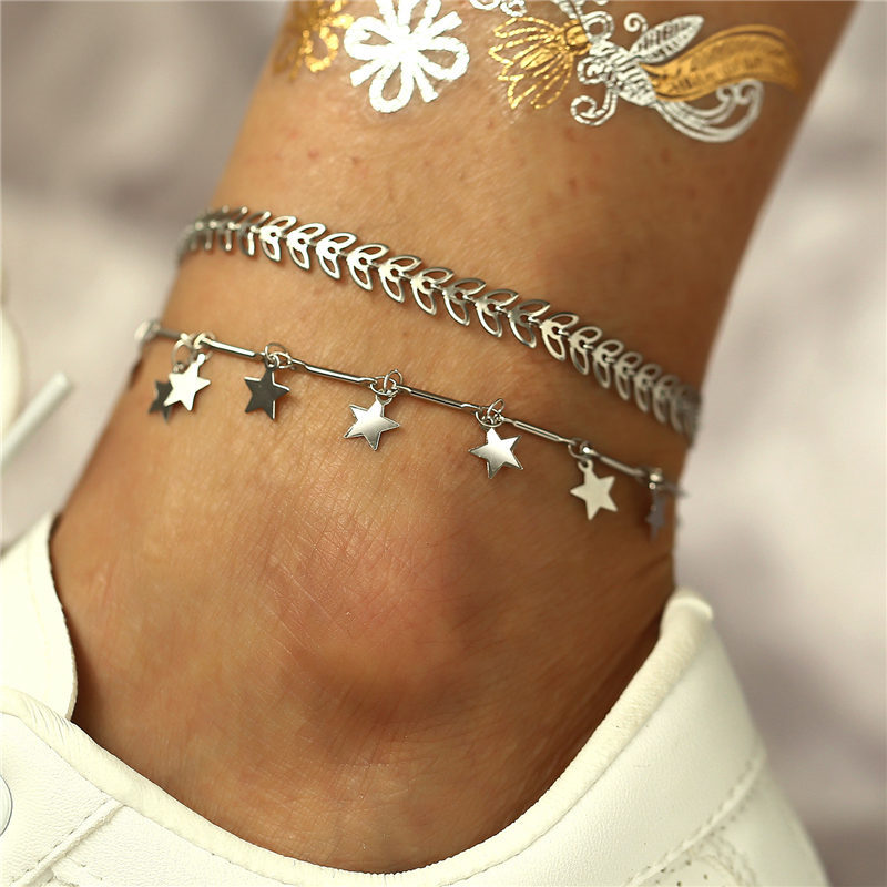 Fashion Bohemian Anklet Set Dolphin Shell Star Anklets Bracelet On Leg Barefoot Foot Beach Jewelry Women Valentine 39 s Day Gift in Anklets from Jewelry amp Accessories