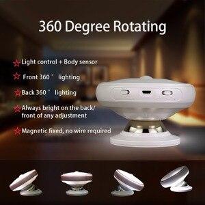 Image 4 - Recargable de Movimiento Activado Sensor de Luz LED USB Luz de La Noche con Magnético, seguro para Los Niños, ideal para Interiores, armario, escaleras, B