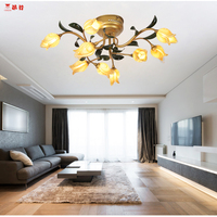 Italian Design Style Iron Art Ceiling Lights With Led Bulbs For Bedroom Dining Room Led Ceiling