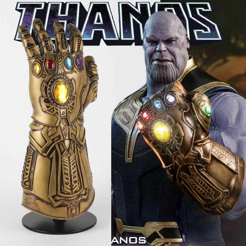 Movie Avengers Infinity War Thanos Infinity Gauntlet Cosplay Gloves Props Armor