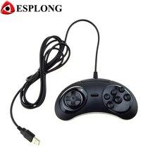 Wired Classic 6 Botones Controle PC USB Gamepad Juego Joypad USB para SEGA Genesis/MD2 Y1301/PC/MAC Mega Drive