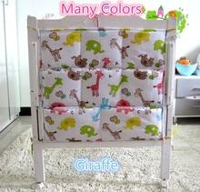 Promotion! Kitty Mickey 62*52 cm Épais et Lisse Lit Bébé Suspendus Poches Tissus, Couche-culotte Sac De Rangement, bébé ensemble de literie