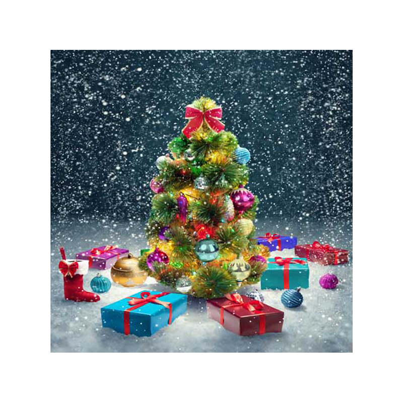 Customized vinyl print snow Christmas party photography backdrops for children photo studio portrait background ST-336 kidniu scenery photography backdrops trees lake photo props wallpaper winter snow vinyl background for studio 9x5ft win1403