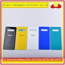 10 Pcs/lot Pour Samsung Galaxy S10 + S10 Plus G9750 SM G975F Porte de Batterie de Logement De Couverture Arrière En Verre Étui Coque de Châssis Remplacement