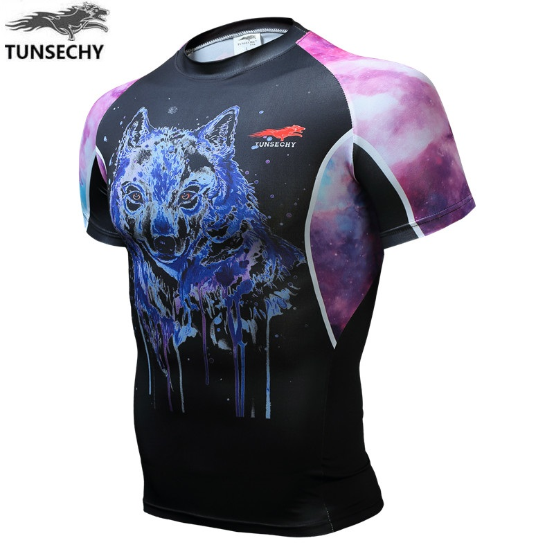 latest design TUNSECHY Brand 3D printing Wolf man short sleeve T-shirt products high quality Wholesale and retail Free shipping