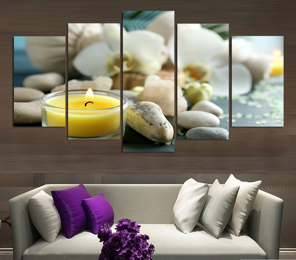 Hd Canvas Prints Picture Spa Nail Salon Store Decor Wall: HD Printed Spa Still Life Wellness Relax Painting Canvas