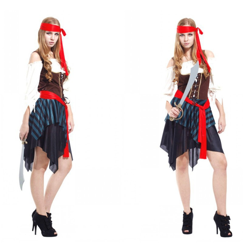 Halloween Costumes for Woman Fantasia Disfraces Pirate Costume Cosplay Jack Sparrow Costume game uniforms
