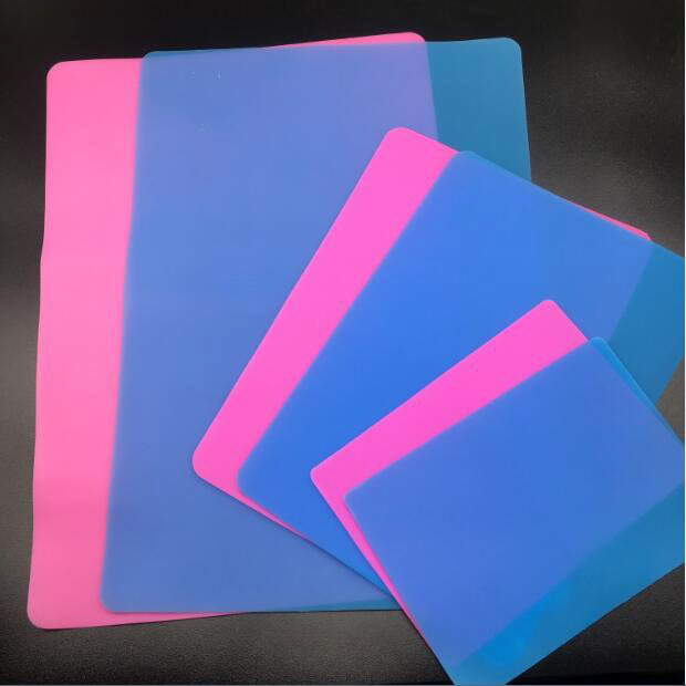 Blue Pink Silicone Mold Jewelry Making Handmade Tool Table Plate Mat Resin Silicone Plate Big Middle Small Size