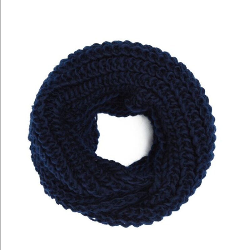 2018 Fashion New Unisex Winter scarf knitted Scarves Collar Neck Warmer womans Crochet Ring Spain Loop women Scarves for lady