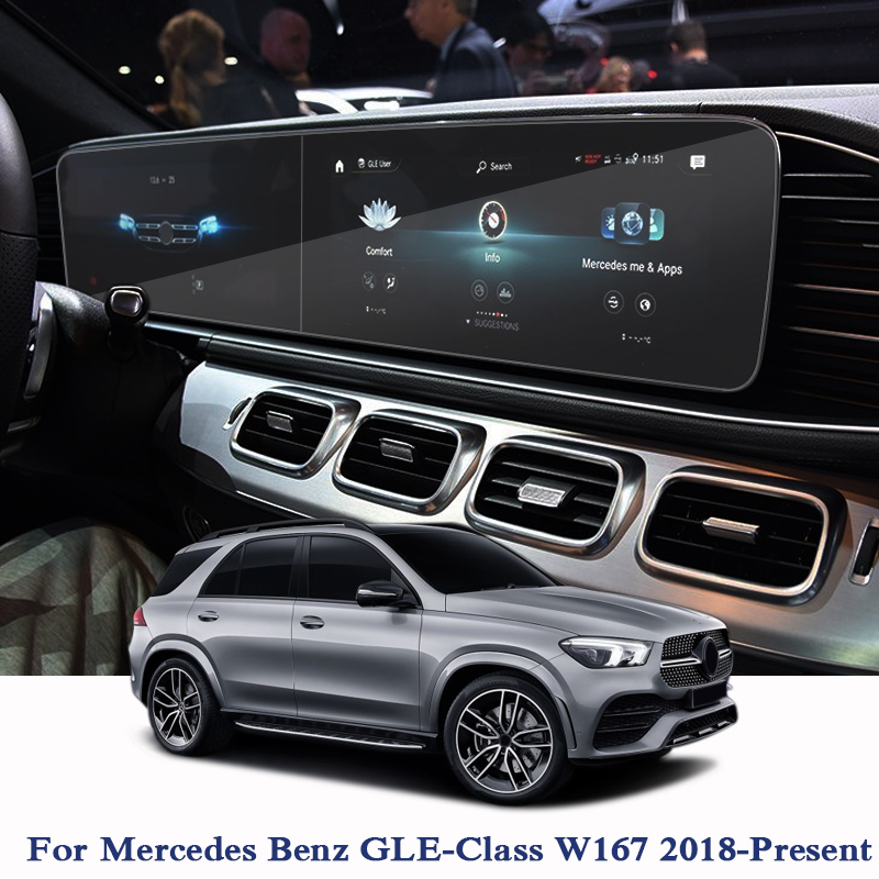 Car Styling Car Dashboard Paint Protective PET Film For Mercedes Benz GLE-Class W167 2018-Present GPS Screen Film Car Accessory