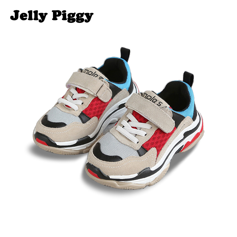 Jelly Piggy 2018 Toddler/Little/Big Kid Sports Shoes Spring Latest Version Child's Non-Slip Leather Running Walking Casual Shoes soccer shoe toddler little kid big kid synthetic leather upper rubber soles 31 44casual outdoor indoor light weight running