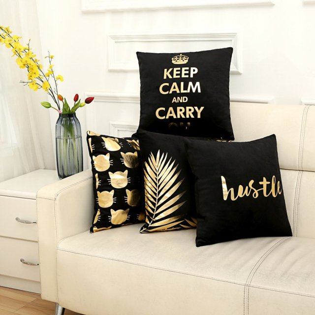 Keren Klasik Linen Katun Campuran Sarung Bantal Sofa Rumah Persegi
