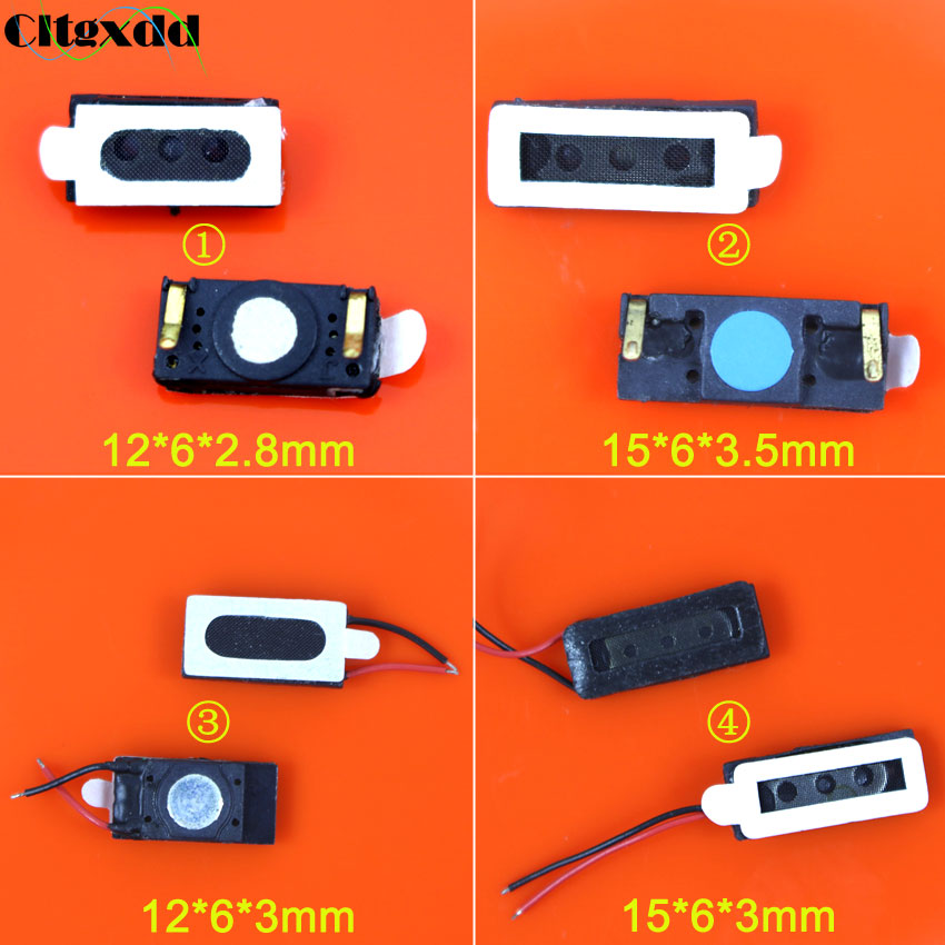 cltgxdd 1Piece Universal receiver earpiece ear speaker 12*6mm / 15*6mm replacement part for mobile phone.
