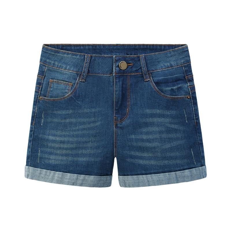 2016 Hot New Woman Denim Shorts Ladies Casual Mid Short Jeans Slim Thin Brand Summer Spring