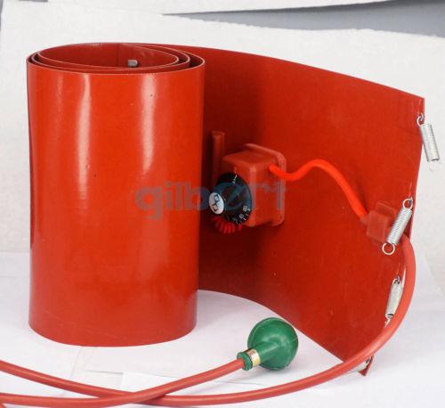 110V 200 L(55 Gallon) 125x1740x1.8mm 1000W Band Drum Heater Oil Biodiesel Barrel 110v 100 l 22 gallon 250x1250x1 8mm 1200w band drum heater oil biodiesel barrel