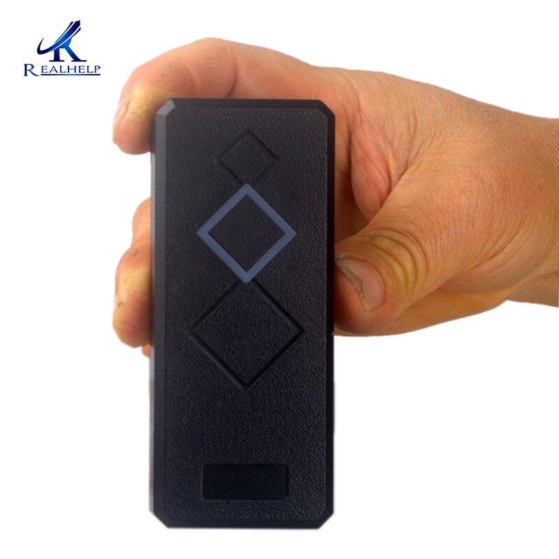 IP65 À Prova D' Água MINI Porta de Acesso Leitor de Cartão de 125 kHz ID RF LOS Wiegand26 Terminal de RFID para Controle de Acesso Ao Cartão De Leitor placa