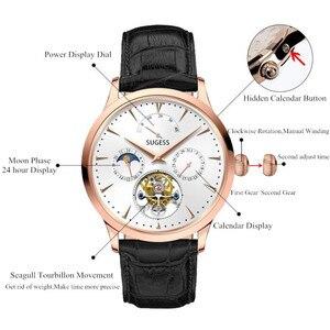 Image 5 - Многофункциональные Мужские механические часы ST8007 с полым турбийоном, маленькие часы с 24 часовым циферблатом, деловые часы для мужчин