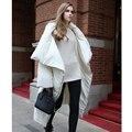 Alta Qualidade Estilo Europeu e Americano 2016 Mulheres Jaqueta de Inverno Pato Branco Para Baixo Parka Longo X-Quente Grossa Solta Jaqueta feminina