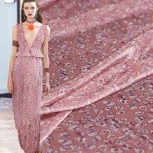 Pearlsilk 160cm Width Pink Human Skeleton Printed Chiffon 100%Polyester Materials Summer Dress DIY clothes fabrics Freeshipping