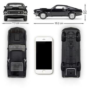 Image 2 - Welly 1:24 다이 캐스트 시뮬레이션 합금 모델 자동차 1969 포드 머스탱 보스 429 자동차 장난감 금속 장난감 자동차 어린이 장난감 선물 컬렉션