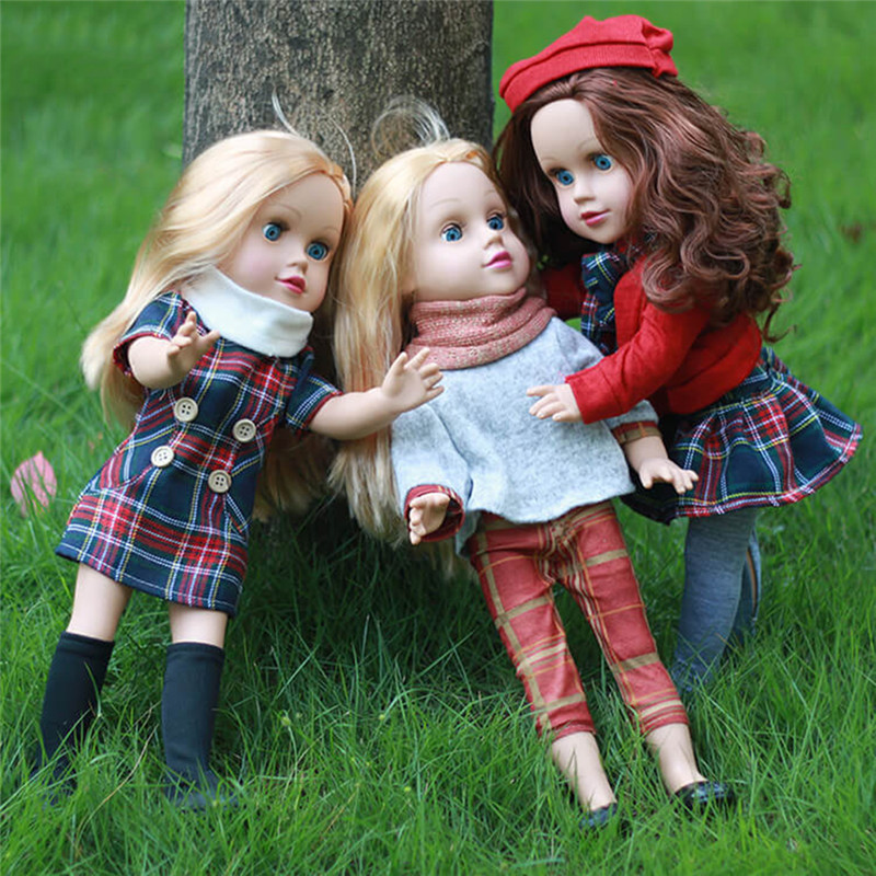 45CM Baby Simulation Dolls Reborn Lifelike Vinyl Cute Pacifying Doll Blink Girl Dolls Emulated Accompanying Dolls For Kids Gift