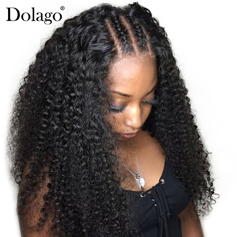 250% Density Deep Curly Lace Front Human Hair Wigs For Women Brazilian 13x6 Lace Front Wig Glueless Black Long Dolago Remy