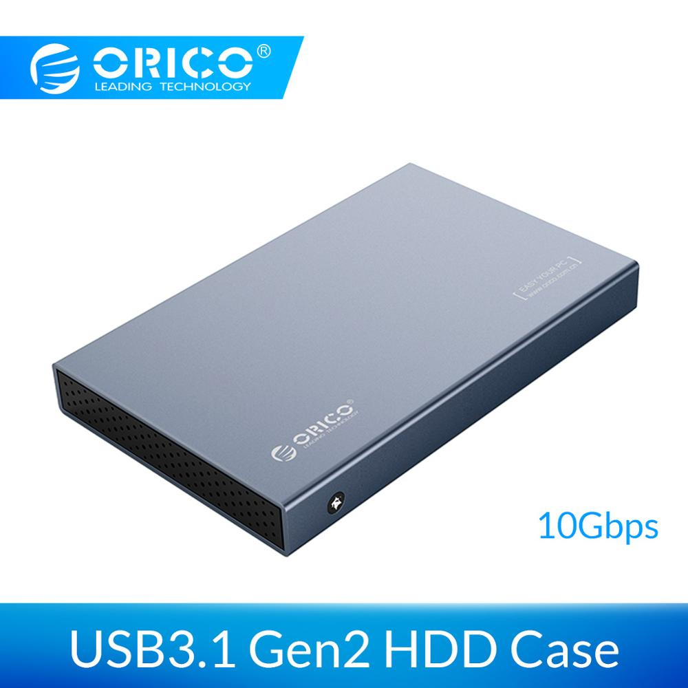 ORICO HDD Case 2.5 inch SATA to USB 3.1 Type C Gen 2 Case for Samsung Seagate SSD 4TB Hard Disk Drive Box External HDD EnclosureORICO HDD Case 2.5 inch SATA to USB 3.1 Type C Gen 2 Case for Samsung Seagate SSD 4TB Hard Disk Drive Box External HDD Enclosure