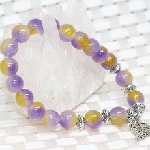 Роскошный модный браслет из натурального камня разноцветный
