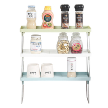 1PC New Kitchen Storage Shelf Plastic Accessories Organizer for Spice Seasoning Sauce Stand Racks