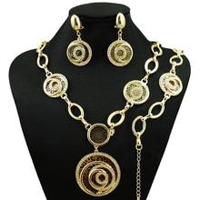 Африканский большой изделия наборы золотые ювелирные наборы партия комплект ювелирных изделий Женщины Ожерелье