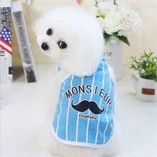 Cute Pet Dog Clothes Cartoon Cat T-shirt Soft Puppy Dogs Clothing Summer Shirt Casual Vests S-XXL For Small Pets