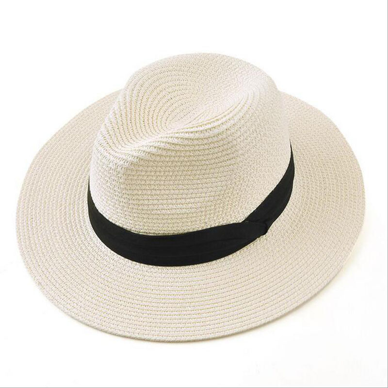 BINGYUANHAOXUAN Brand 2017 New Summer Hats For Women Black Ribbon Panama Straw Hat Fashion Lady Lady Hats Beach Sun Hat