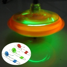 Funny New Arrival Flashing Light Up Gyro Wheel Magnetic Stainless Steel Rail Kinetic Science Toy Spining Top Toys