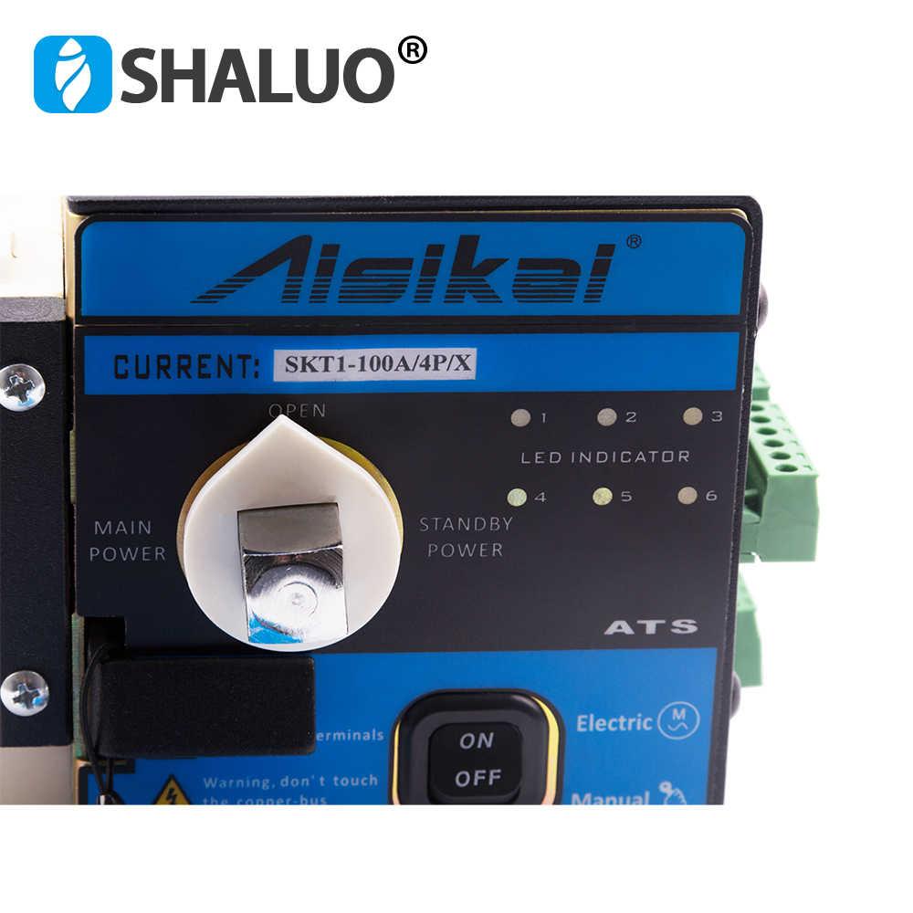 Genset ATS автоматический переключатель передачи 4 P 30amp 50amp 63amp 80amp 100amp Универсальный двойной Электрогенератор Переключатель 220 v 380 v
