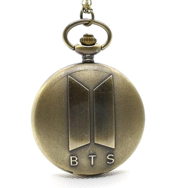 Fashion BTS/Bangtan Boys Music Team Korean Man Singing Group Quartz Pocket Watch