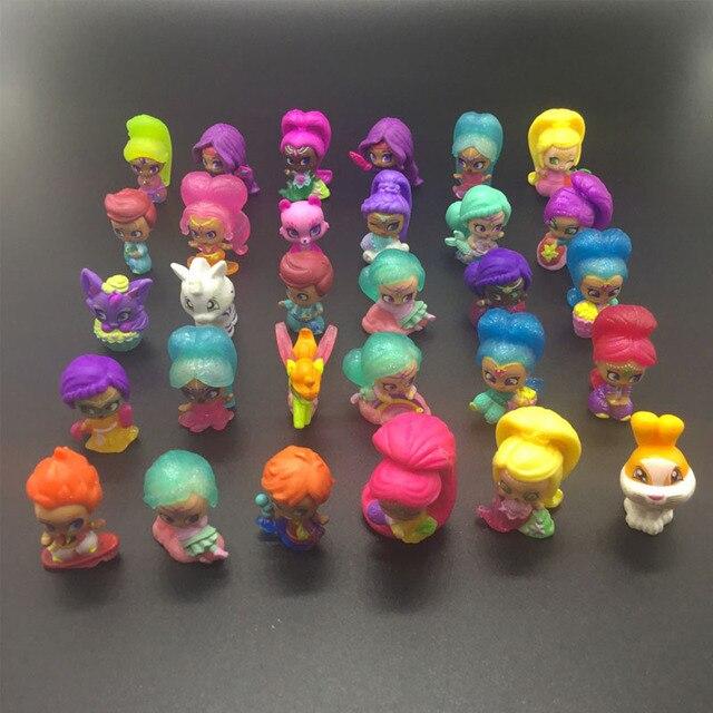 20 pièces/lot miroitant Figure jouet en plastique Mini Action modèle jouet pour filles jouet cadeau
