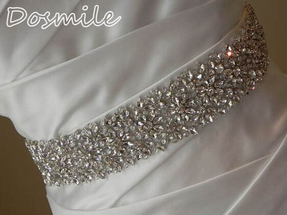 New wedding belt full waist crystal bridal band with beads rhinestone blings sequins sparkles custom made satin sash
