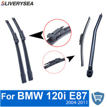 QEEPEI Front and Rear Wiper Blade Arm For BMW 120i (E87) 2004-2011 5 Door Hatchback High quality Natural Rubber Windscreen